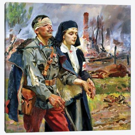 Wounded Soldier, 1915 Canvas Print #BMN12175} by Wojciech Kossak Canvas Art Print