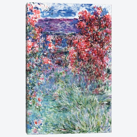 The House at Giverny under the Roses, 1925  Canvas Print #BMN1219} by Claude Monet Art Print