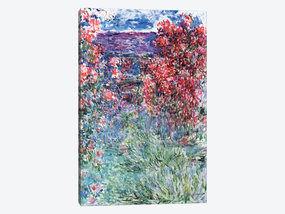 The House at Giverny under the Roses, 1925  by Claude Monet 1-piece Canvas Artwork