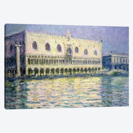 The Ducal Palace, Venice, 1908 Canvas Print #BMN1221} by Claude Monet Canvas Artwork
