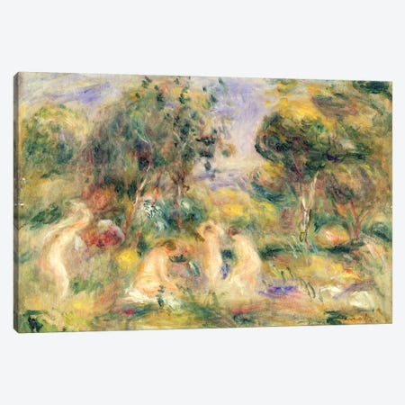 The Bathers Canvas Print #BMN1226} by Pierre-Auguste Renoir Canvas Art Print