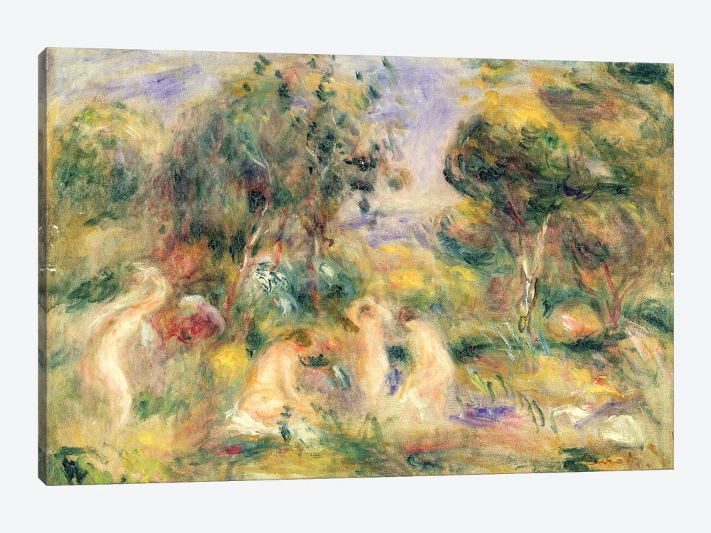 The Bathers by Pierre-Auguste Renoir 1-piece Canvas Art
