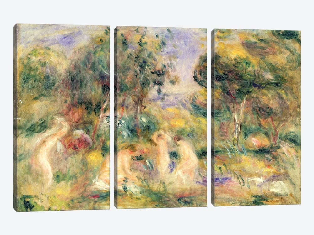 The Bathers by Pierre-Auguste Renoir 3-piece Canvas Artwork