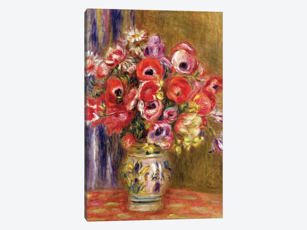 Vase of Tulips and Anemones, c.1895 by Pierre-Auguste Renoir 1-piece Art Print