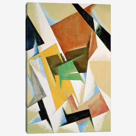 Compostion, 1921 (w/c on paper) Canvas Print #BMN122} by Lyubov Popova Canvas Print