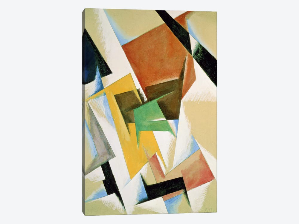 Compostion, 1921 (w/c on paper) by Lyubov Popova 1-piece Canvas Artwork
