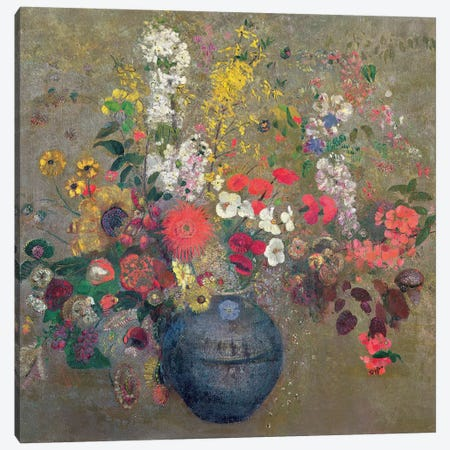 Flowers, 1909  Canvas Print #BMN1234} by Odilon Redon Canvas Wall Art