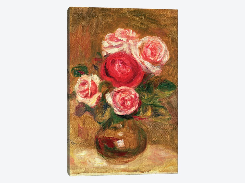 Roses in a pot by Pierre-Auguste Renoir 1-piece Canvas Artwork