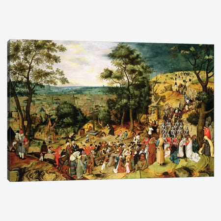Christ on the Road to Calvary, 1607  Canvas Print #BMN1237} by Pieter Brueghel the Younger Canvas Art
