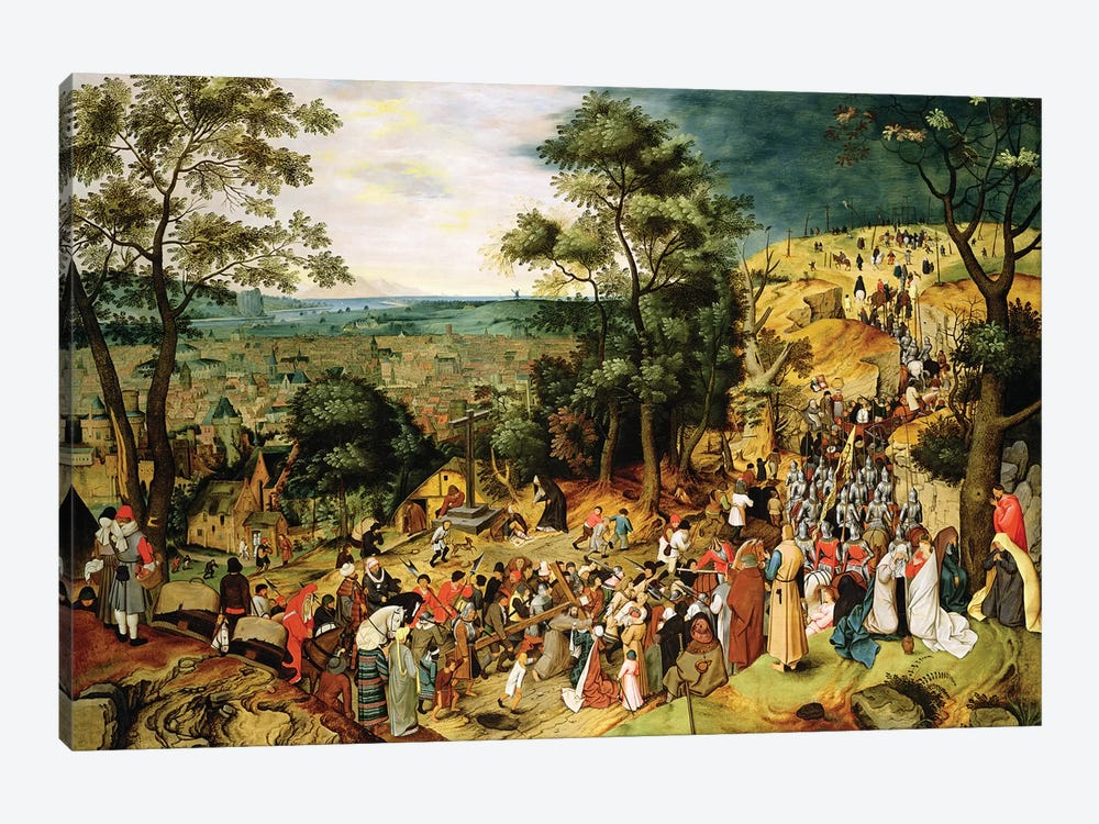 Christ on the Road to Calvary, 1607  by Pieter Brueghel the Younger 1-piece Canvas Art
