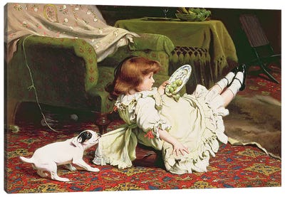 Time to Play, 1886 Canvas Art Print