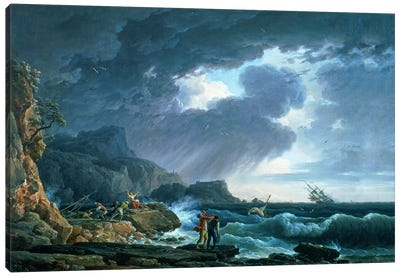 A Seastorm, 1752 Canvas Art Print