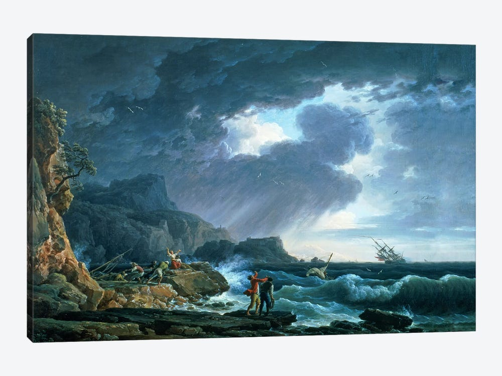 A Seastorm, 1752 by Claude Joseph Vernet 1-piece Canvas Art