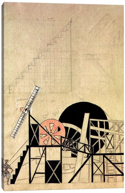 "Stage Set Design For The Play, ""The Magnaminous Cuckold"", By F. Crommelynck, Meyerhold Theatre, Moscow, 1922 Canvas Art Print"