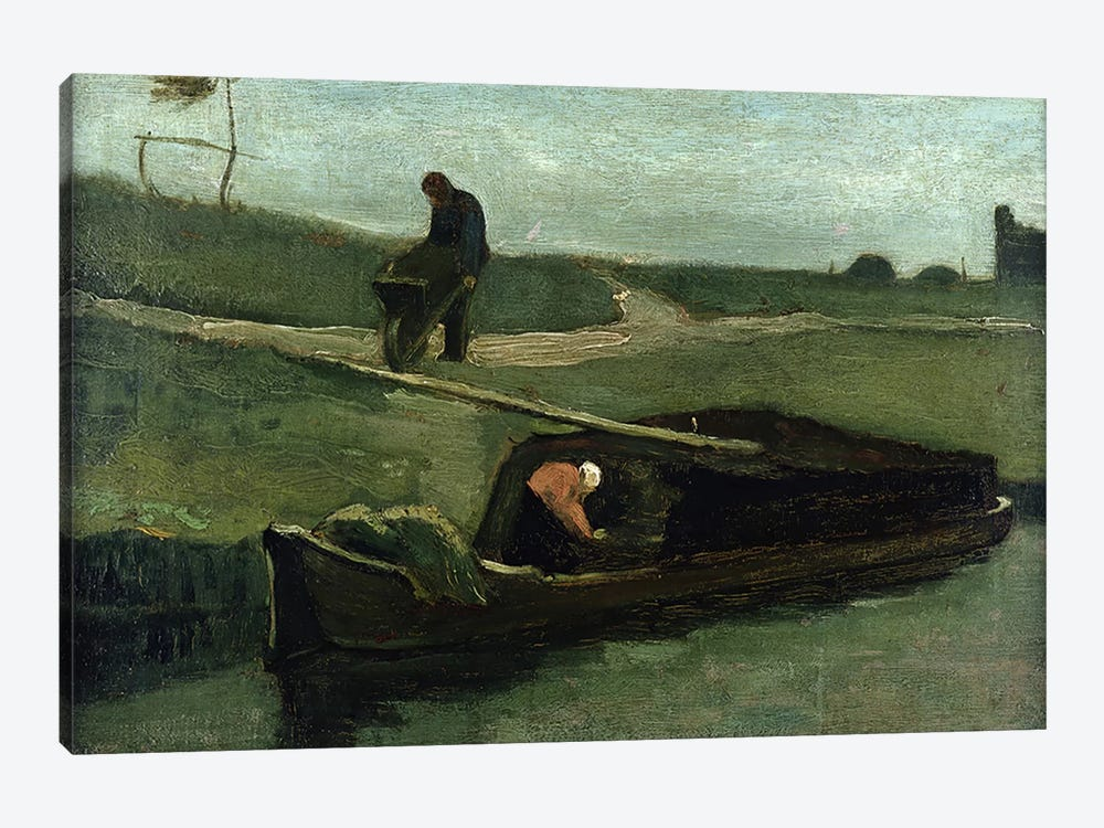 The Peat Boat, 1883 by Vincent van Gogh 1-piece Canvas Art Print
