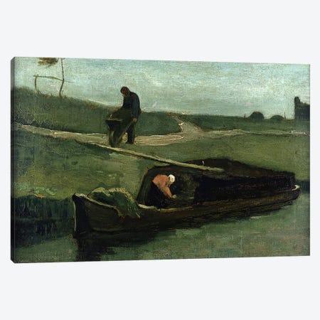 The Peat Boat, 1883  Canvas Print #BMN1245} by Vincent van Gogh Canvas Art Print