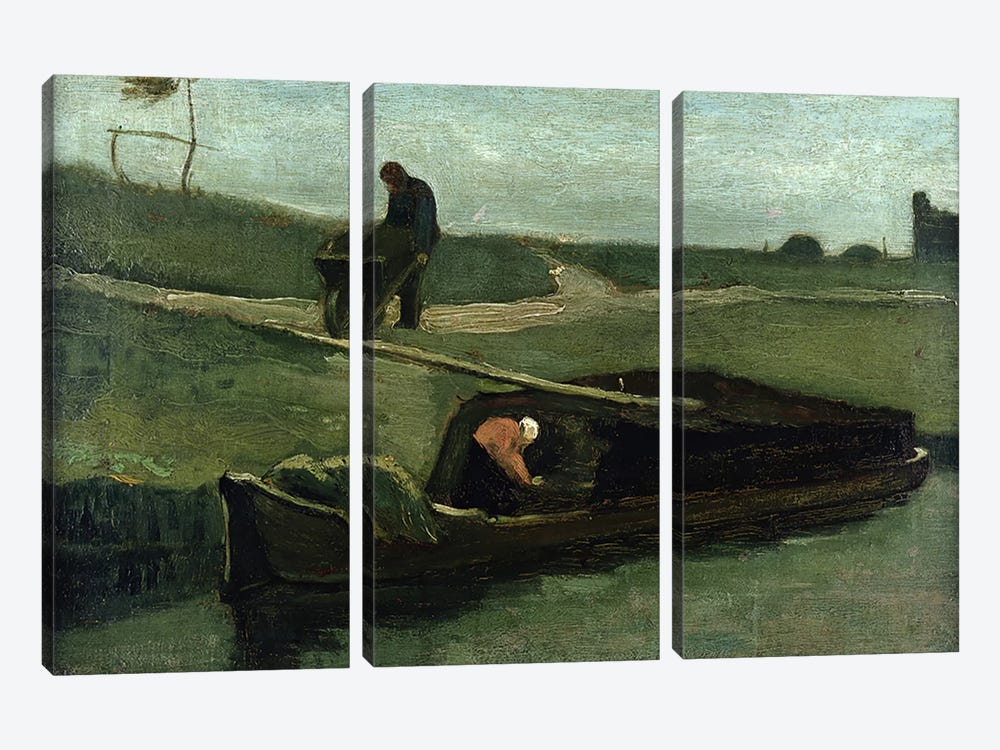 The Peat Boat, 1883  by Vincent van Gogh 3-piece Art Print