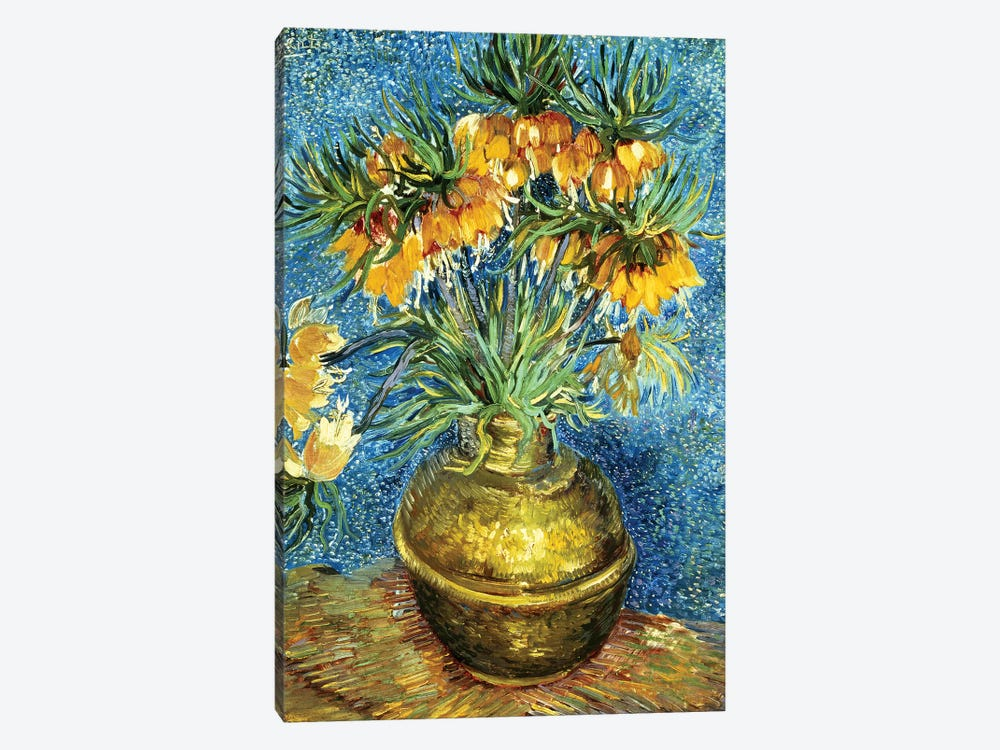 Crown Imperial Fritillaries in a Copper Vase, 1886  by Vincent van Gogh 1-piece Canvas Art Print