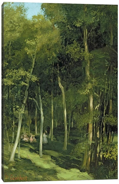 Beneath the Trees at Port-Berteau: Children Dancing, c.1862  Canvas Art Print