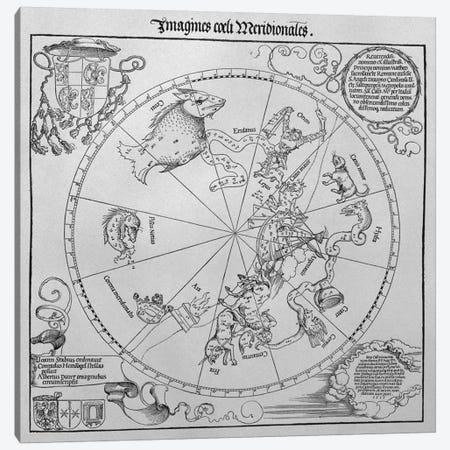 The Celestial Globe - Southern Hemisphere Canvas Print #BMN1249} by Albrecht Dürer Canvas Wall Art