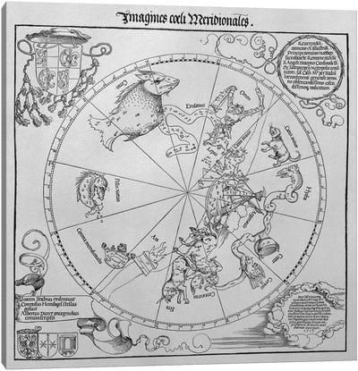 The Celestial Globe - Southern Hemisphere Canvas Art Print