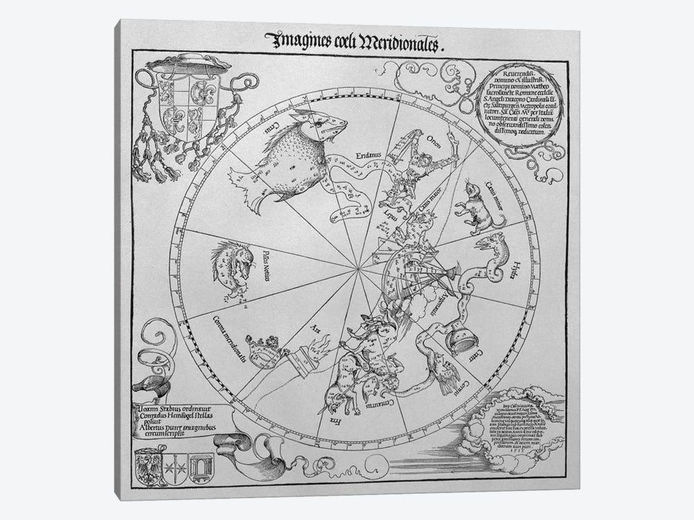 The Celestial Globe - Southern Hemisphere by Albrecht Dürer 1-piece Canvas Print