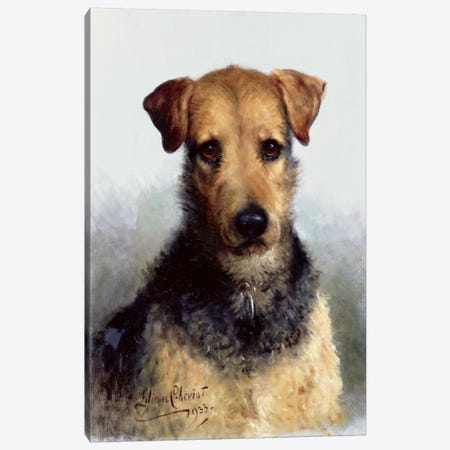 Wire Fox Terrier, 1933 Canvas Print #BMN1253} by Lilian Cheviot Canvas Art Print