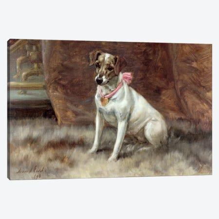 The Pink Bow, 1898 Canvas Print #BMN1254} by Maud Earl Canvas Artwork