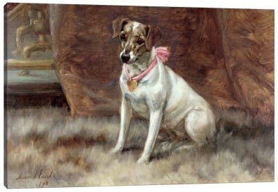The Pink Bow, 1898 Canvas Art Print