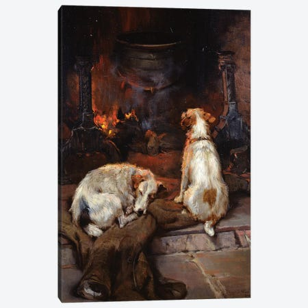 By the Hearth, 1894 Canvas Print #BMN1255} by Philip Eustace Stretton Canvas Wall Art