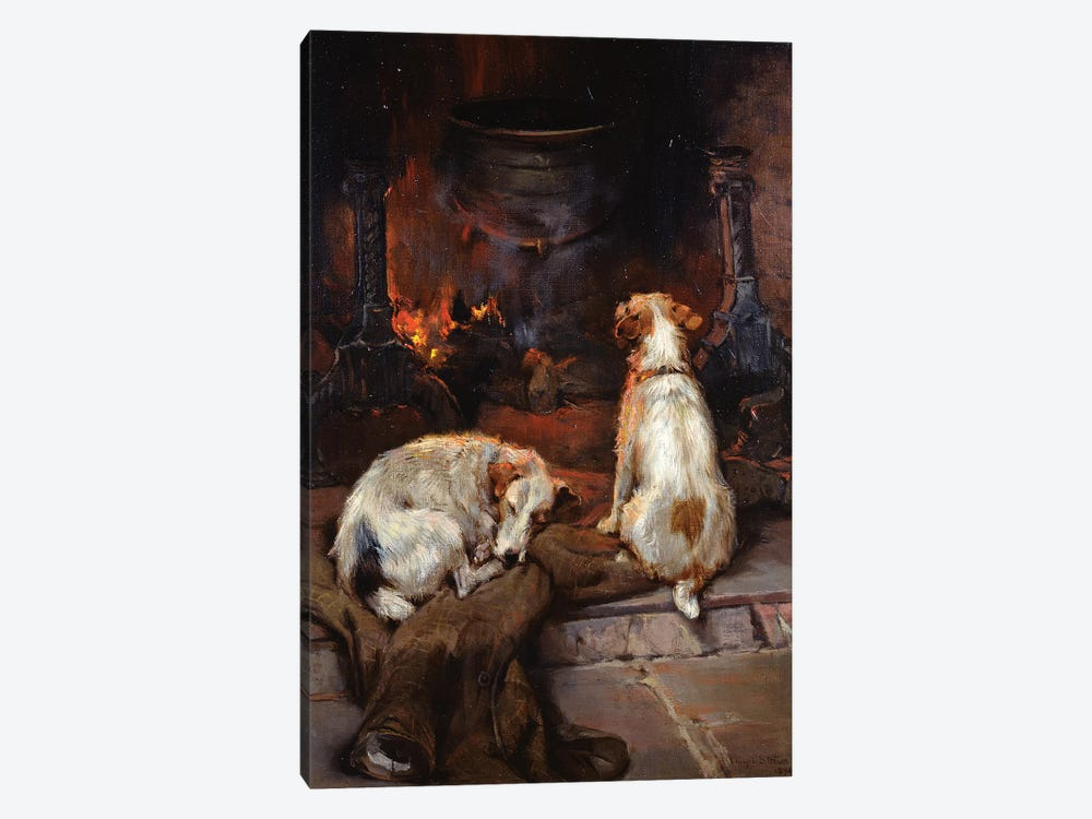 By the Hearth, 1894 by Philip Eustace Stretton 1-piece Canvas Art