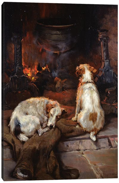 By the Hearth, 1894 Canvas Art Print