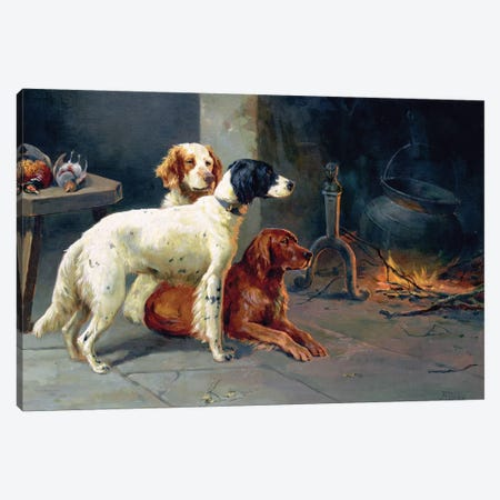 By the Fire  Canvas Print #BMN1256} by Alfred Duke Canvas Artwork