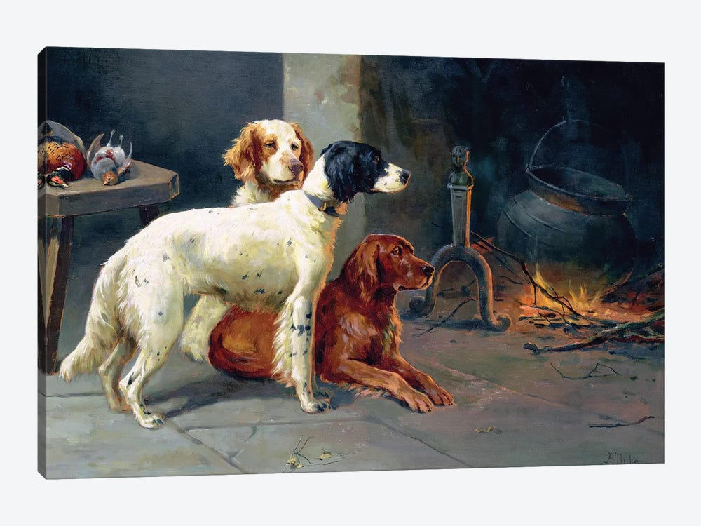 By the Fire  by Alfred Duke 1-piece Canvas Print