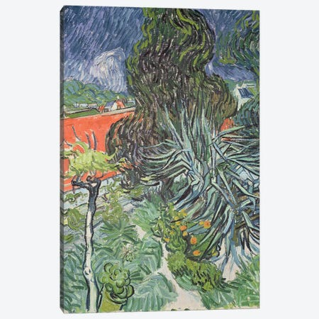 The Garden of Doctor Gachet at Auvers-sur-Oise, 1890  Canvas Print #BMN1264} by Vincent van Gogh Art Print