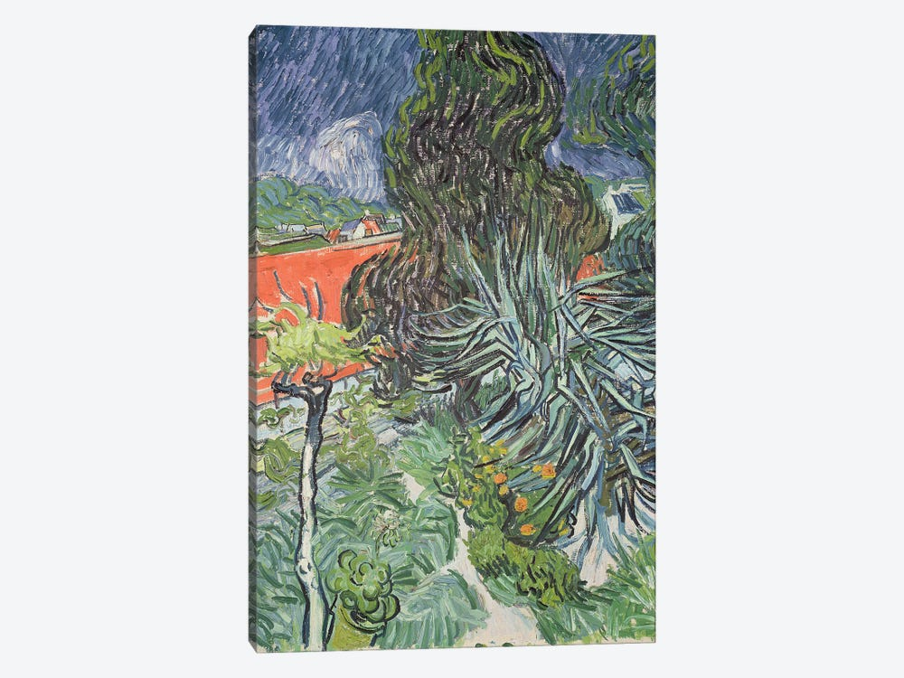 The Garden of Doctor Gachet at Auvers-sur-Oise, 1890  by Vincent van Gogh 1-piece Canvas Wall Art