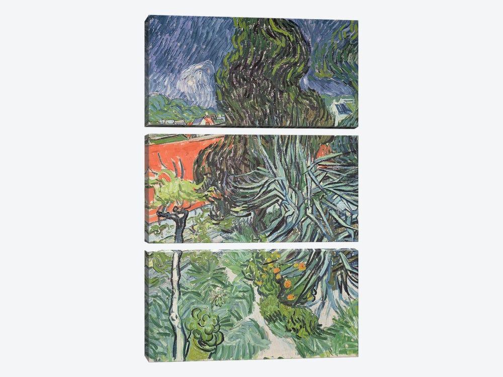 The Garden of Doctor Gachet at Auvers-sur-Oise, 1890  by Vincent van Gogh 3-piece Canvas Artwork