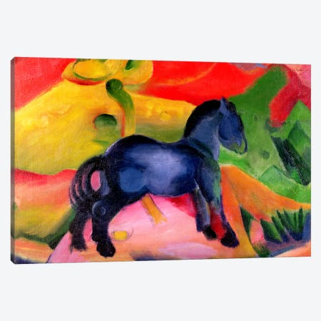 Little Blue Horse, 1912  Canvas Print #BMN1265} by Franz Marc Art Print