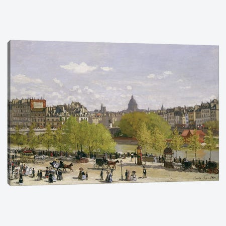Quai du Louvre, Paris, 1866-67  Canvas Print #BMN1268} by Claude Monet Canvas Wall Art