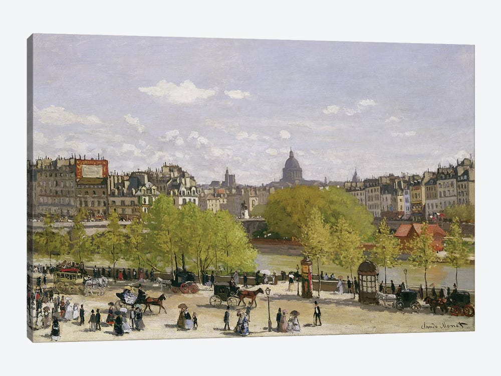 Quai du Louvre, Paris, 1866-67  by Claude Monet 1-piece Canvas Wall Art