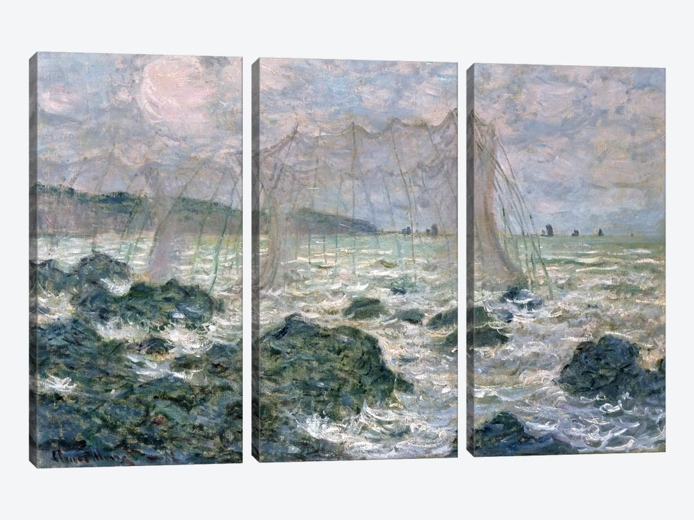 The Nets, 1882 by Claude Monet 3-piece Art Print