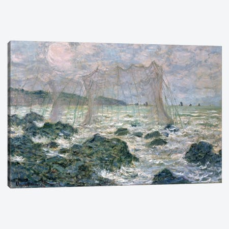 The Nets, 1882 Canvas Print #BMN1270} by Claude Monet Art Print