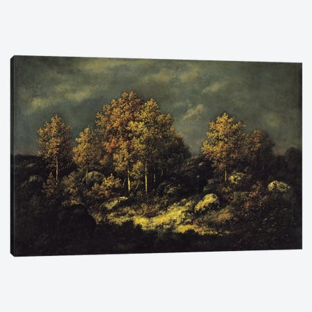 The Jean de Paris Heights in the Forest of Fontainebleau, 1867  Canvas Print #BMN1272} by Narcisse Virgile Diaz de la Pena Canvas Art Print