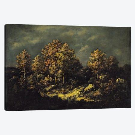 The Jean de Paris Heights in the Forest of Fontainebleau, 1867  Canvas Print #BMN1272} by Narcisse Virgile Diaz de la Pena Canvas Art Print