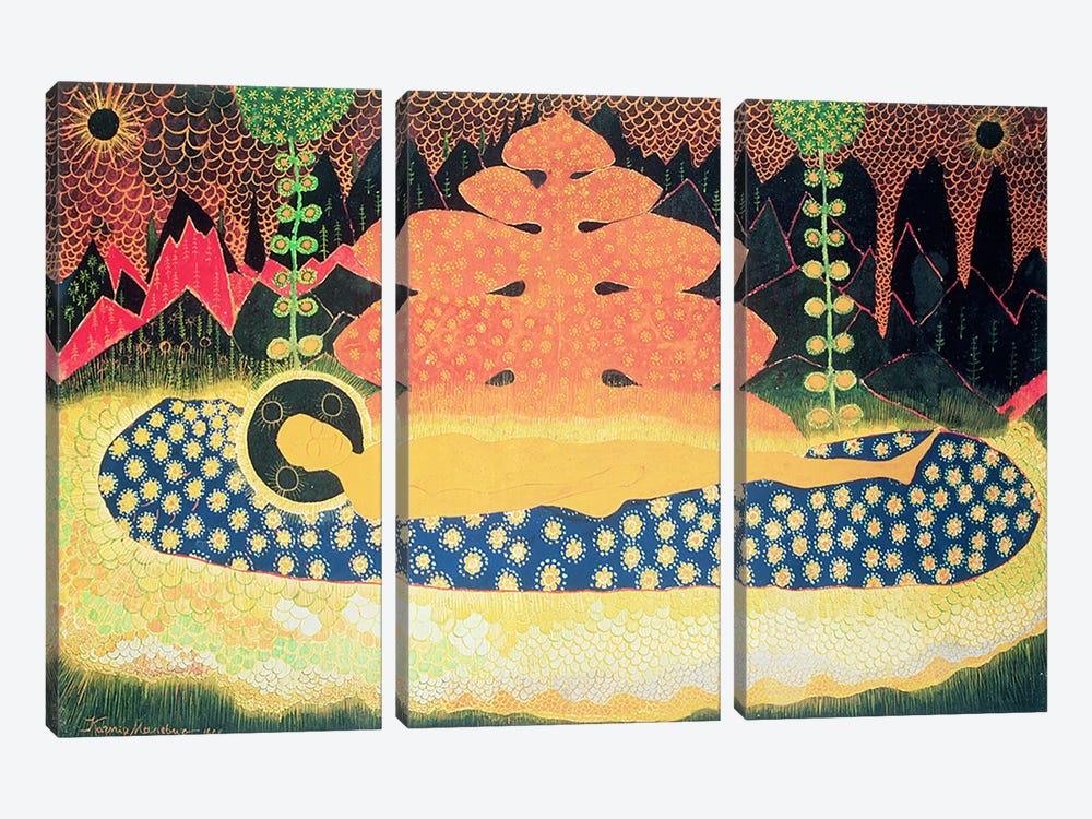 Composition, 1908  by Kazimir Severinovich Malevich 3-piece Canvas Wall Art
