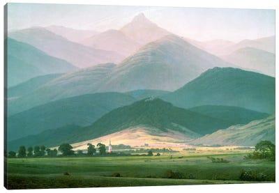 Landscape in the Riesengebirge, 1810-11  Canvas Art Print