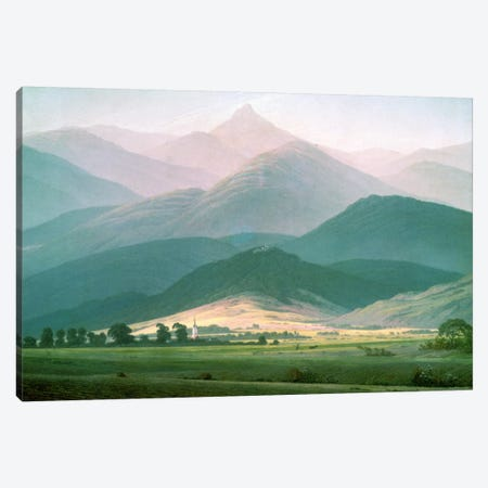 Landscape in the Riesengebirge, 1810-11  Canvas Print #BMN1275} by Caspar David Friedrich Canvas Artwork