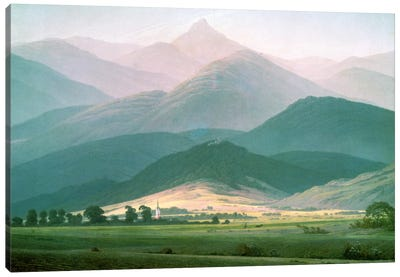 Landscape in the Riesengebirge, 1810-11  Canvas Art Print