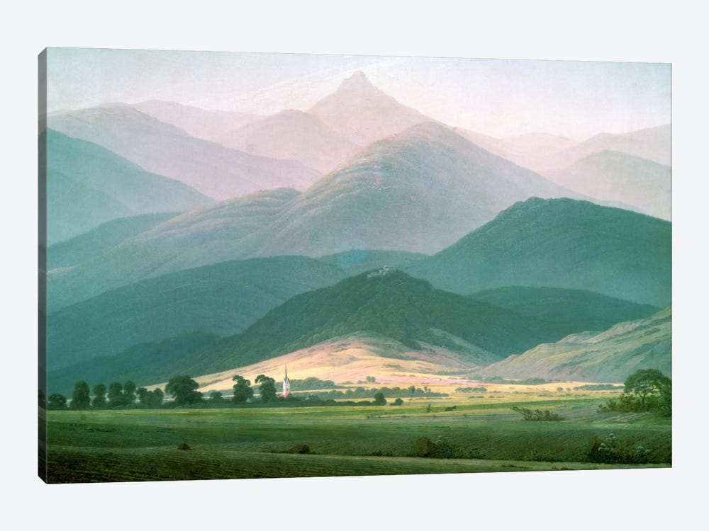 Landscape in the Riesengebirge, 1810-11  by Caspar David Friedrich 1-piece Canvas Wall Art