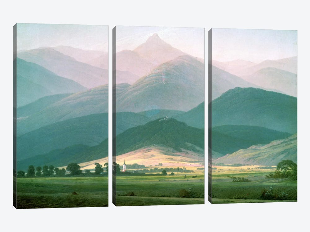 Landscape in the Riesengebirge, 1810-11  by Caspar David Friedrich 3-piece Canvas Artwork